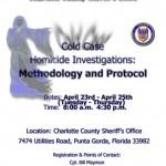 Cold Case Homicide Investigation Flyer
